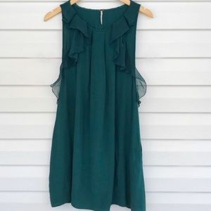 Free people emerald green top size 2